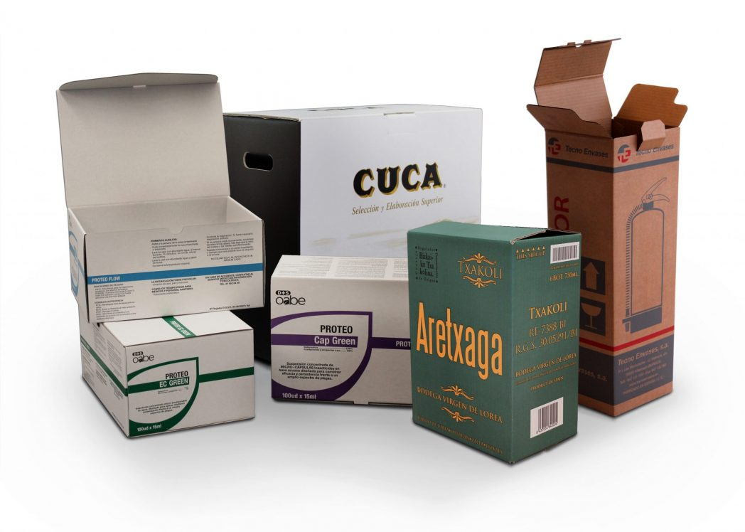 Embalaje caja estándar PLV e-commerce agricultura automoción industrial